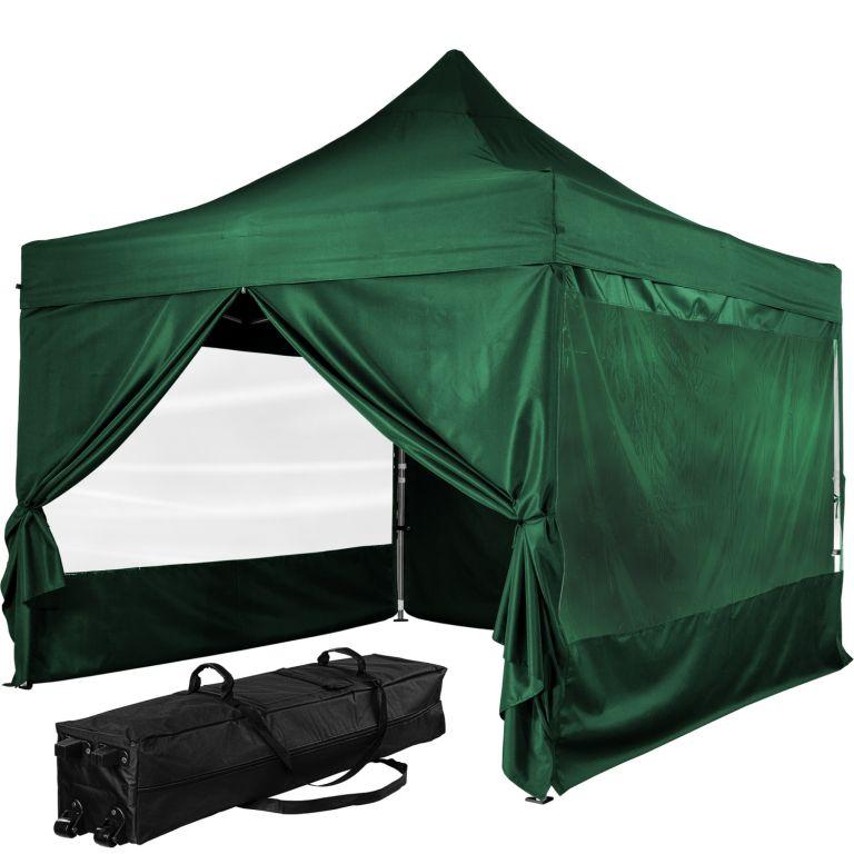 """Stan INSTENT """"PRO"""" s pojazdnou taškou - 3 x 3 m, zelený"""