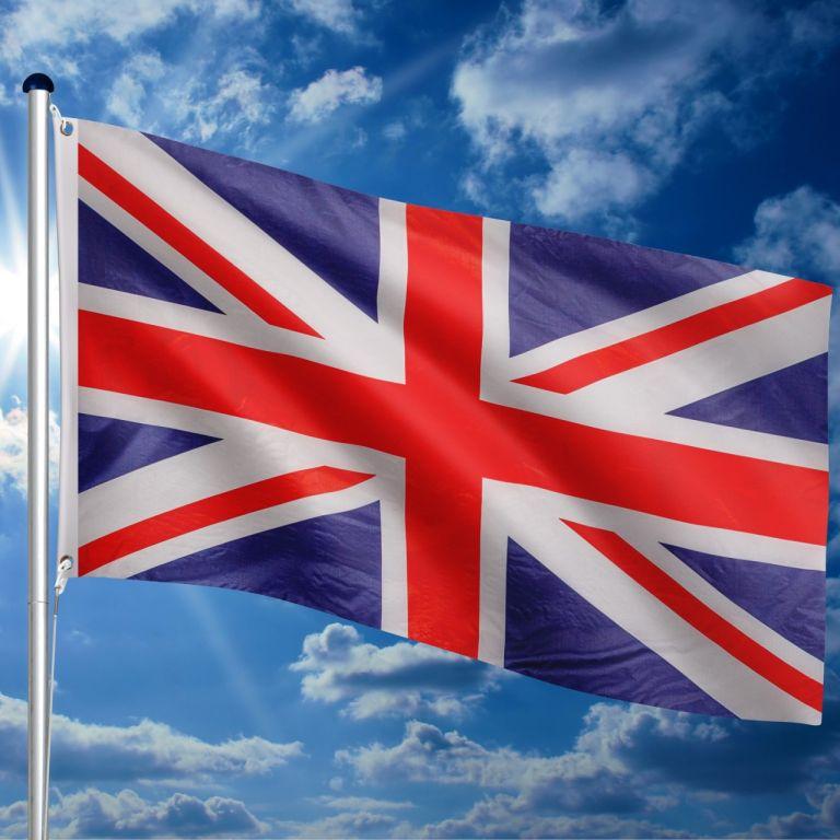Vlajkový stožiar vrátane vlajky Veľká Británia - 650 cm