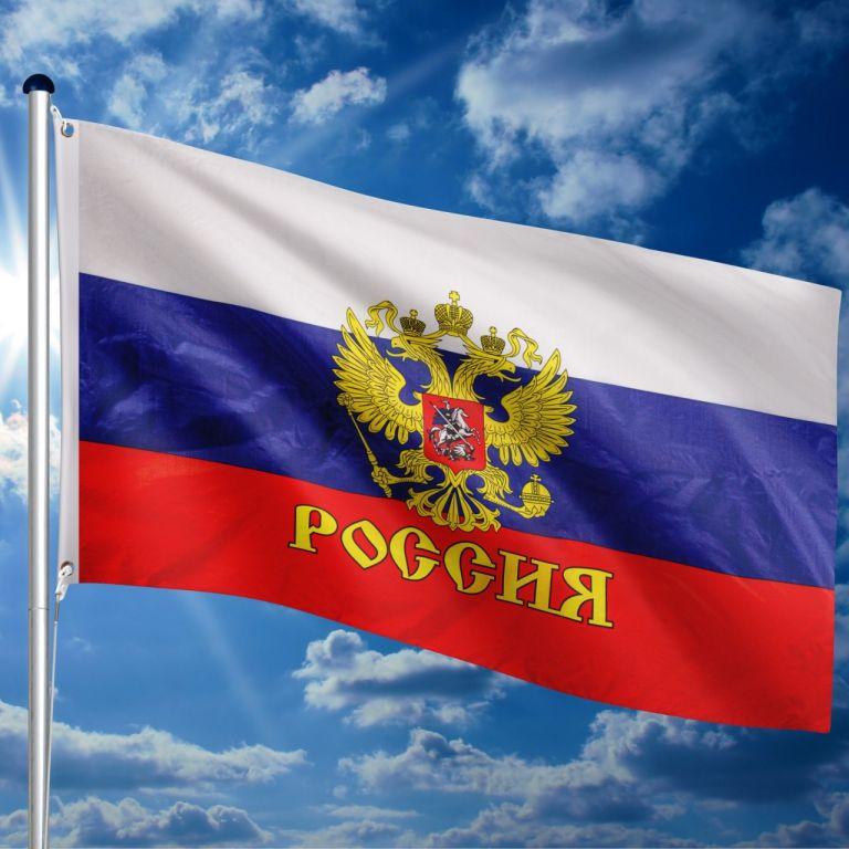 Vlajkový stožiar vrátane vlajky Rusko - 650 cm