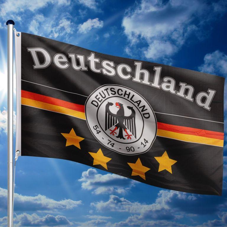 Vlajkový stožiar vrátane vlajky nemeckého tímu, 650 cm