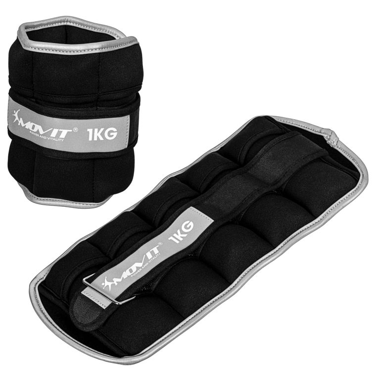 Movit neoprénové záťažové manžety, 2 x 1 kg, čierne