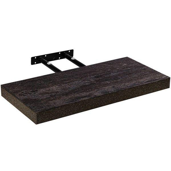 STILISTA Nástenná polica Volato, tmavé drevo, 30 cm