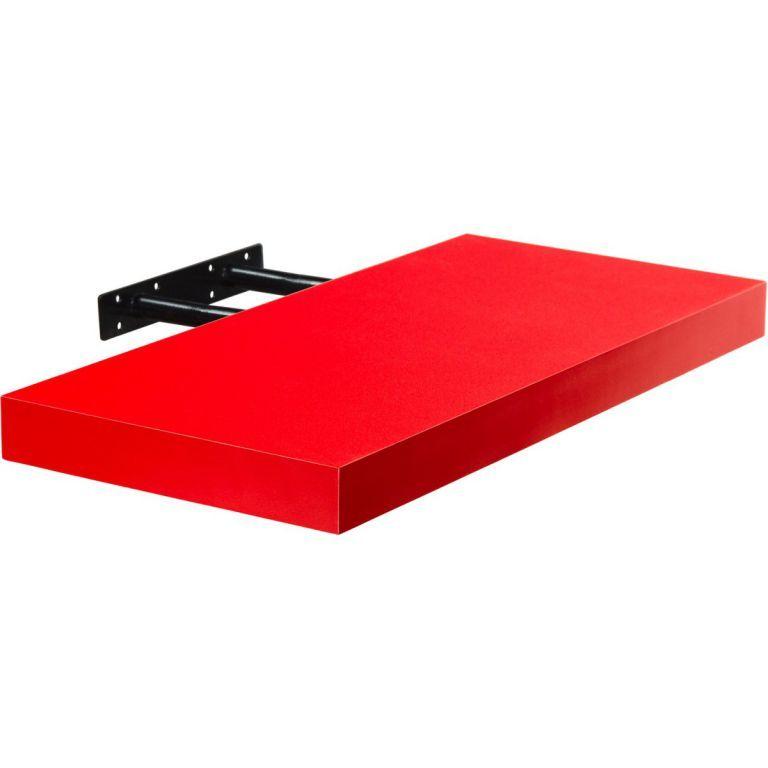 Stilista nástenná polica Volato, 30 cm, červená
