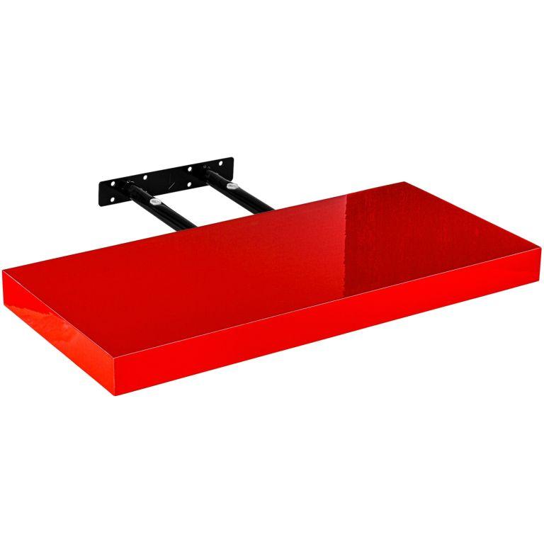 Stilista nástenná polica Volato, 40 cm, lesklá červená
