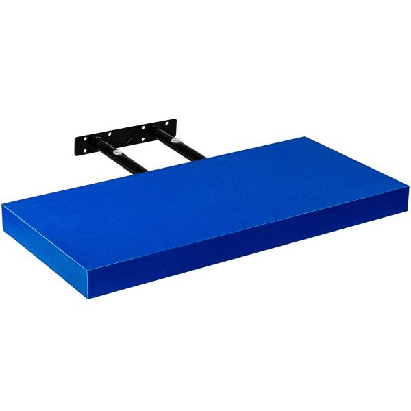 Stilista nástenná polica Volato, 80 cm, modrá