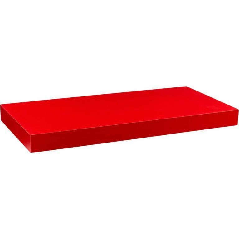 STILISTA Nástenná polica VOLATO, matná červená, 80 cm