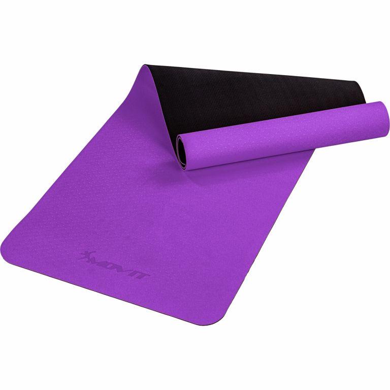 MOVIT Jóga podložka na cvičenie, 190 x 60 cm, fialová