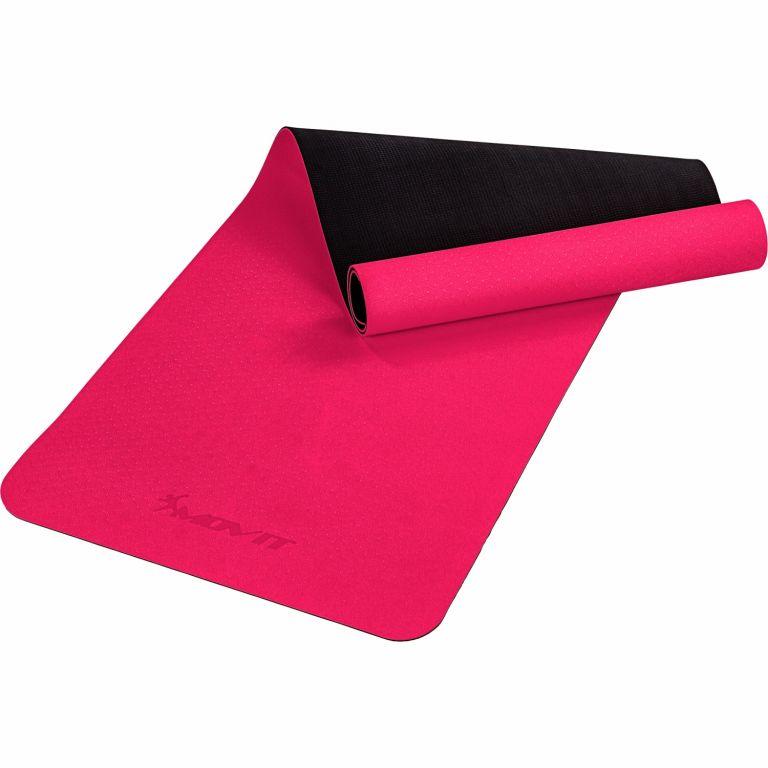 MOVIT Jóga podložka na cvičenie, 190 x 60 cm, ružová