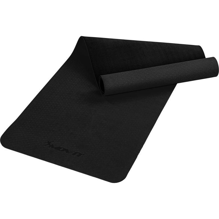 MOVIT Jóga podložka na cvičenie, 190 x 60 cm, čierna