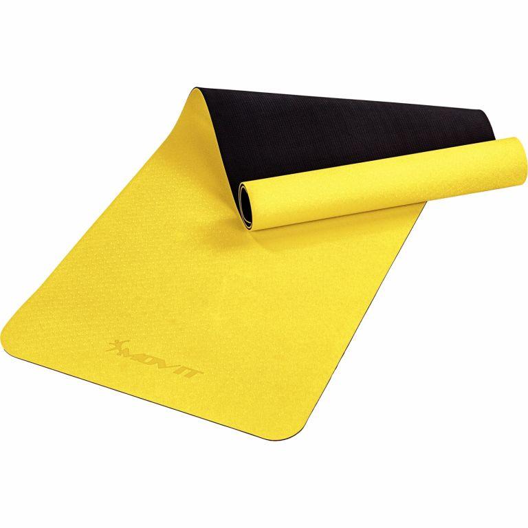 MOVIT Jóga podložka na cvičenie, 190 x 60 cm, žltá