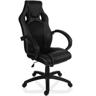 Otočná kancelárska stolička ČIERNA GS Series