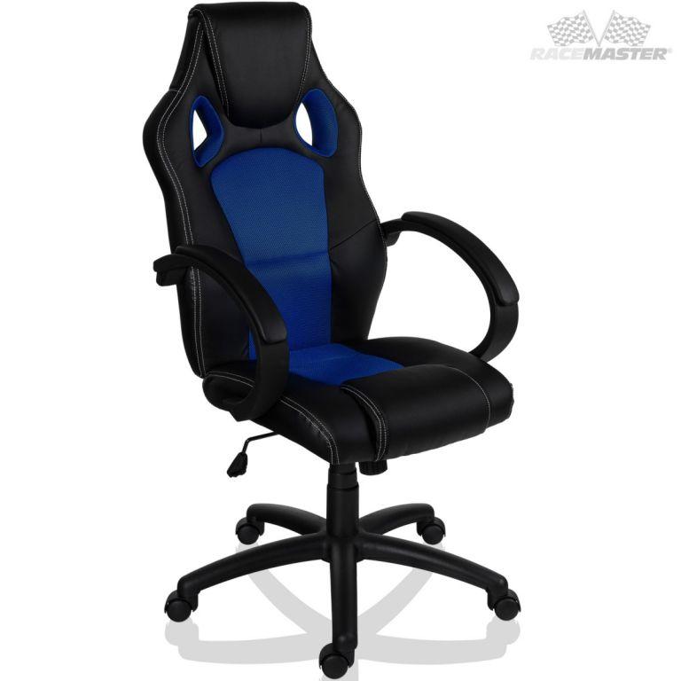 RACEMASTER® 9497 Otočná kancelářská židle MODRÁ GS Series