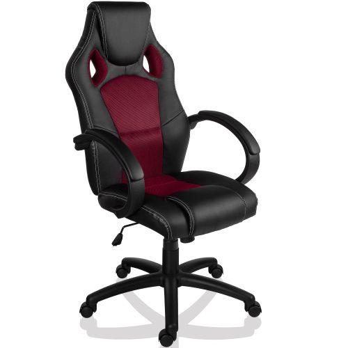 RACEMASTER® 9502 Otočná kancelářská židle GS Series - vínově červená