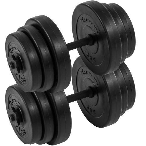 MOVIT 2 jednoručné činky s kotúčmi 40 kg