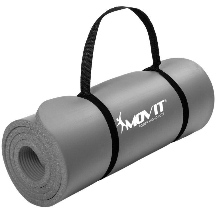 Podložka na cvičenie MOVIT 190 x 60 x 1,5 cm - sivá