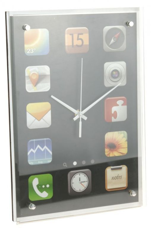 Nástenné hodiny PHONE APPS 36 x 25 cm