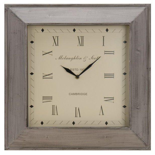 Nástenné štvorcové hodiny 45 x 45 cm