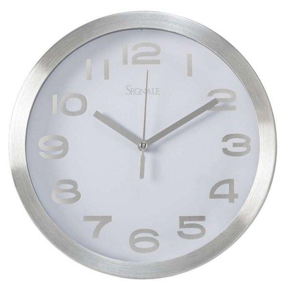 Koopman 35765 Nástěnné hodiny TITANIUM malé 20,3 cm - BÍLÁ