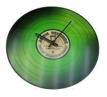 Nástenné sklenené hodiny VINYL 35 cm - ZELENÉ