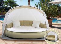 Luxusná relaxačná pohovka s plážovou strieškou DEKOVITA