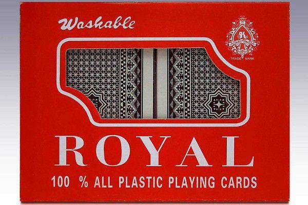 Pokerové karty 100 % plast - sada 2 ks