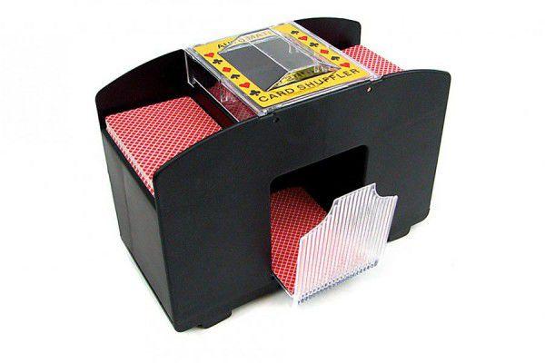 Automatická miešačka kariet XXL až pre štyri balíčky kariet (čierna)