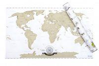 Stieracia mapa sveta - zlatá