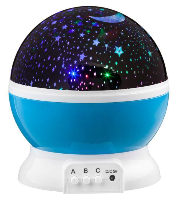 LED Star Light projektor nočnej oblohy - modrá
