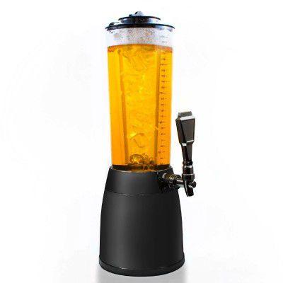 Pivná veža s objemom 4 litre, s kohútikom - design čierna