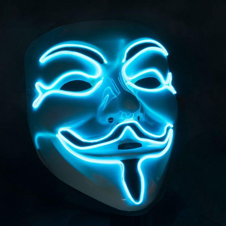 Maska so svetelným LED efektom - anonymus