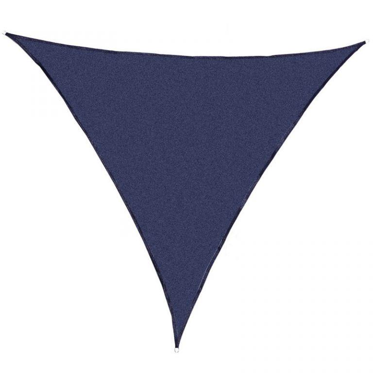 Tieniaca záhradná plachta trojuholníková, modrá, 360 cm