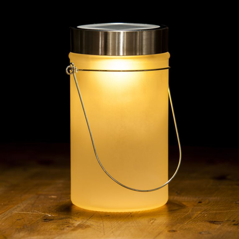 Solárna lampa, žltá