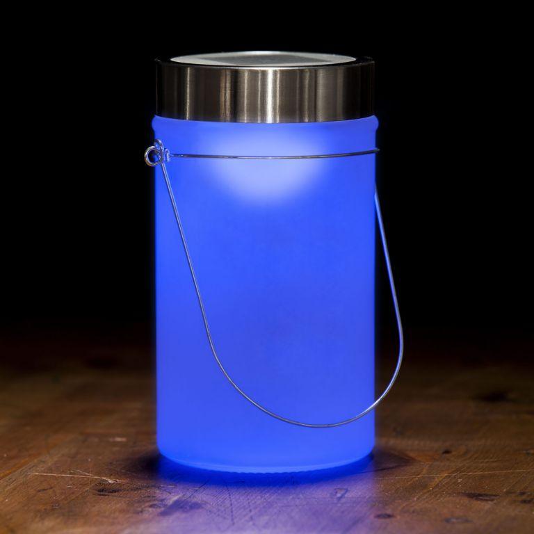 Solárna lampa, modrá