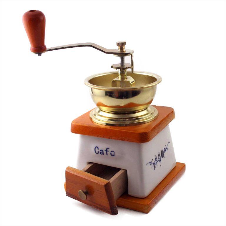 Keramický mlynček na kávu v retro štýle, 20 x 10 x 10 cm