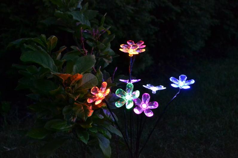 Zahradní LED solární osvětlení - květinový keř