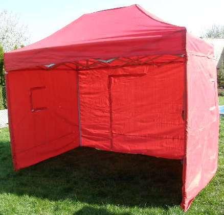 Záhradný párty stan CLASSIC nožnicový + bočné steny - 3 x 2 m červený