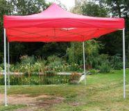 Záhradný párty stan CLASSIC nožnicový - 3 x 3 m červený