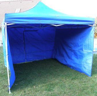 Záhradný párty stan CLASSIC nožnicový + bočné steny - 3 x 3 m modrý