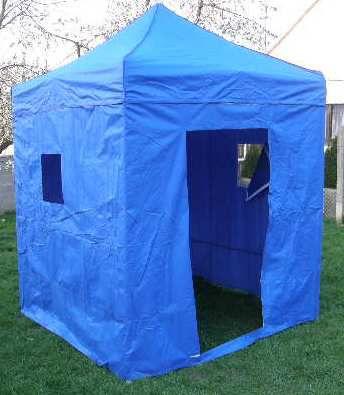 Záhradný párty stan DELUXE nožnicový + bočné steny - 2 x 2 m modrá