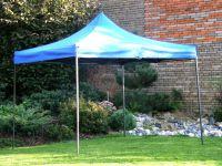 Záhradný párty stan DELUXE nožnicový - 3 x 3 m modrá