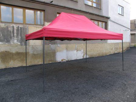 Záhradný párty stan DELUXE nožnicový - 3 x 4,5 m červená