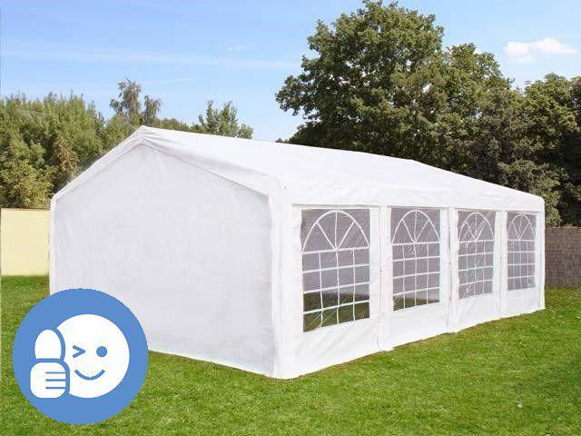 Záhradný párty stan ECONOMY 5 x 8 m - biela