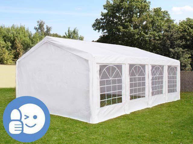 Záhradný párty stan STANDARD 4 x 8 m – biela