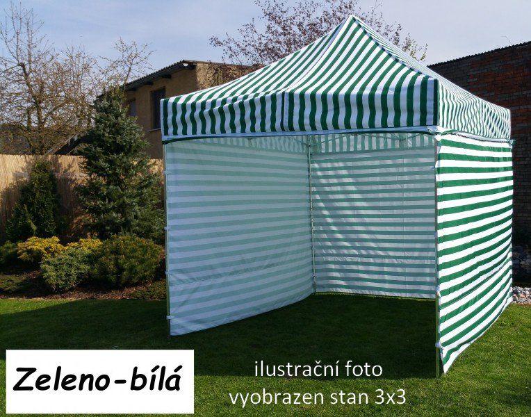 Záhradný párty stan PROFI STEEL 3 x 4,5 - zeleno-biela