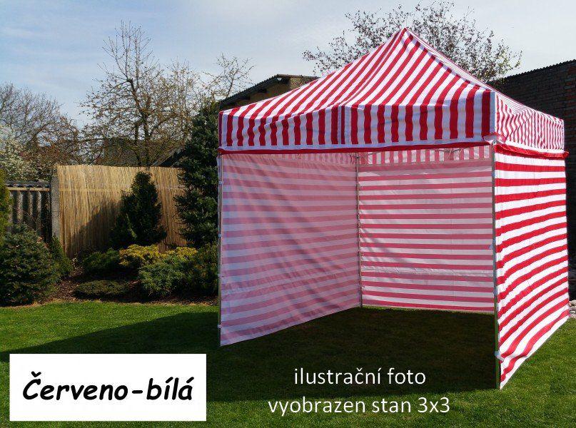 Záhradný párty stan PROFI STEEL 3 x 6 - červeno-biela