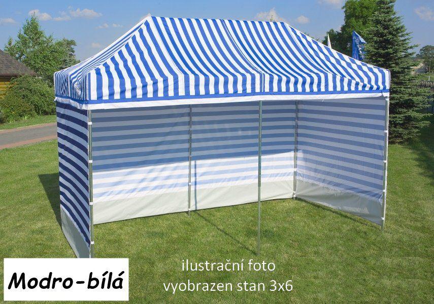 Záhradný párty stan PROFI STEEL 3 x 6 - modro-biela