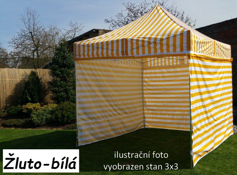 Záhradný párty stan PROFI STEEL 3 x 6 - žlto-biela