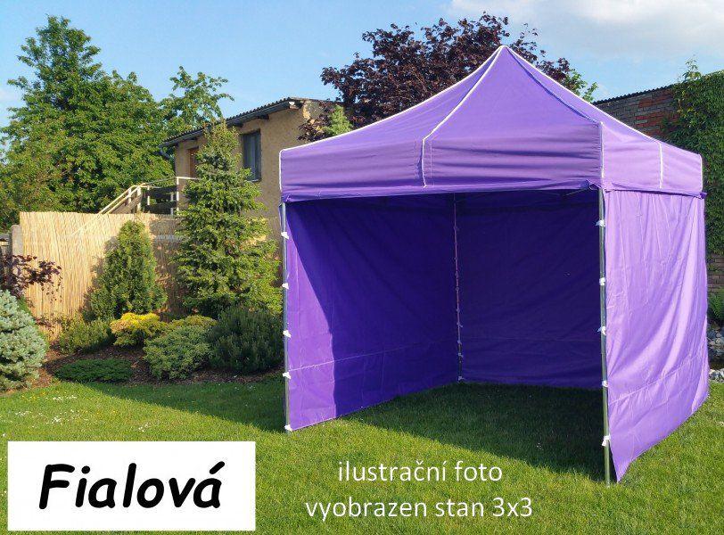 Záhradný párty stan PROFI STEEL 3 x 6 - fialová