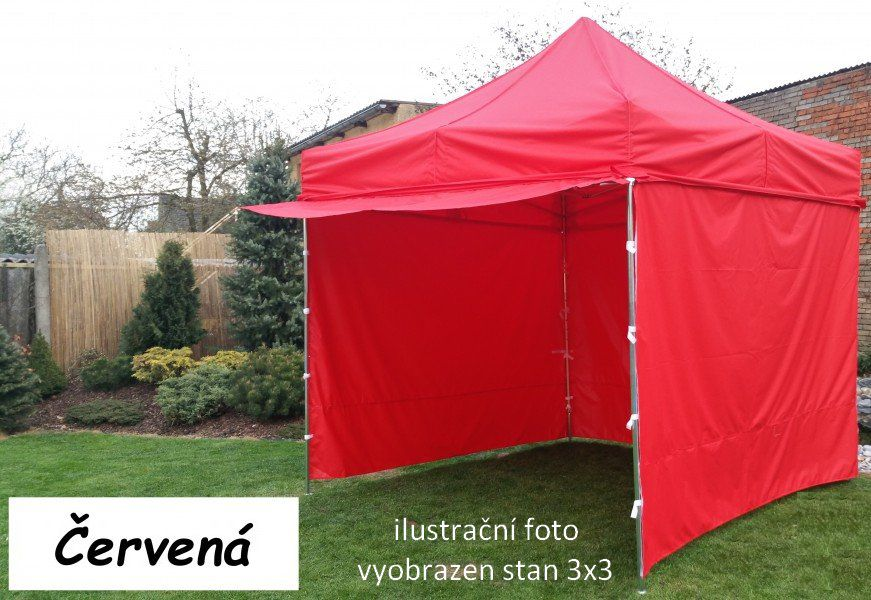 Záhradný párty stan PROFI STEEL 3 x 6 - červená