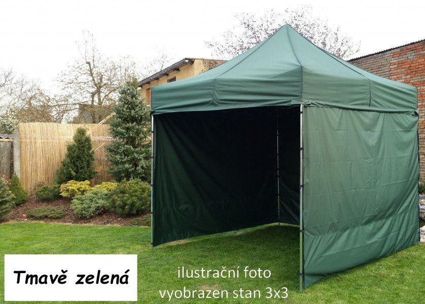 Záhradný párty stan PROFI STEEL 3 x 6 - tmavozelená